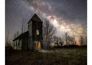 """Chris Attrell, """"Danbury Church,"""" 2018"""