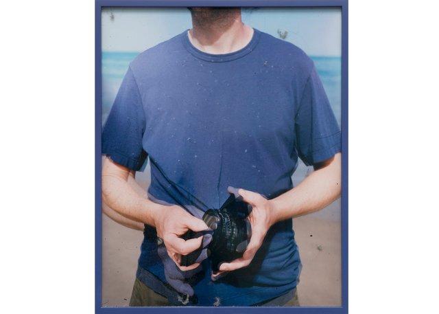 "Scott McFarland, ""Lens Cleaning Schneider APO-Symmar5.6/180MM"" James Perse Space Crewneck Jersey T-shirt, 2017"