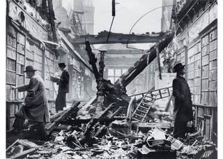 Photographer unknown, Holland House library, Kensington, London, after an air raid, 1940