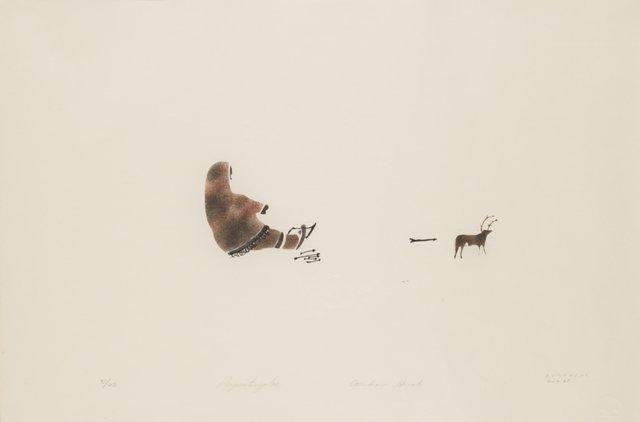 "Elisapee Ishulutaq, ""Caribou Hunt,"" 1972"