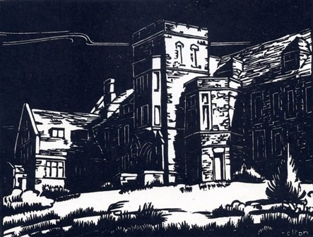 "Margaret Shelton, ""Administration Building, Banff,"" 1941"
