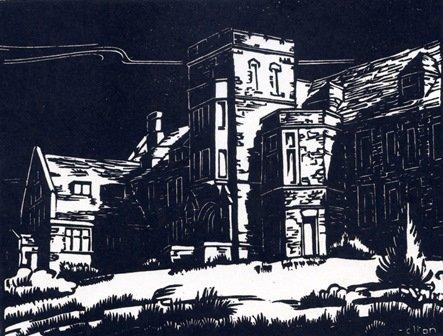 """Margaret Shelton, """"Administration Building, Banff,"""" 1941"""