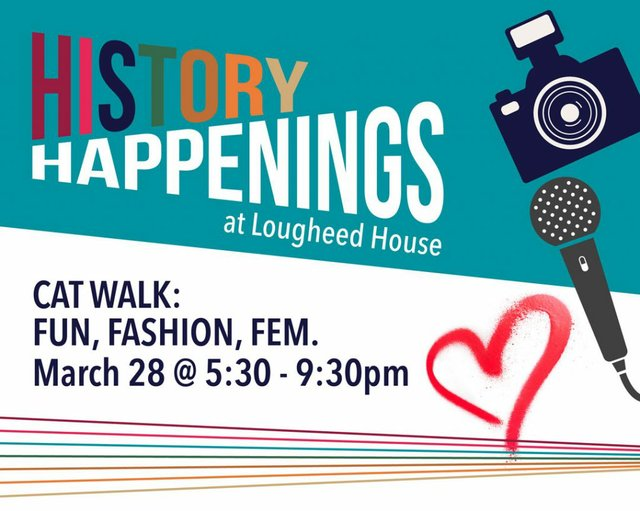 """Lougheed House Gallery, """"History Happenings, March,"""" 2019"""