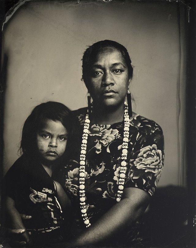 "Kali Spitzer, ""Indigenous Motherhood (Cora-Allen and son),"" 2018"