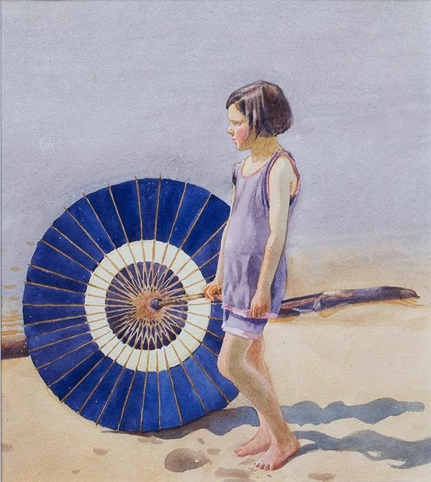 "Walter J. Phillips, ""Mary's Parasol,"" c. 1920"