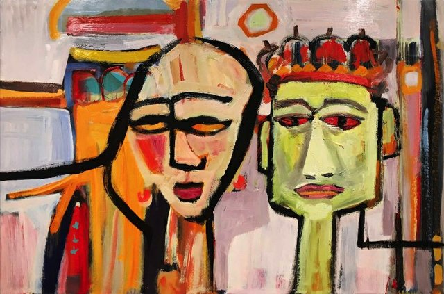 """Jean Ridhards, """"King and Queen,"""" nd"""