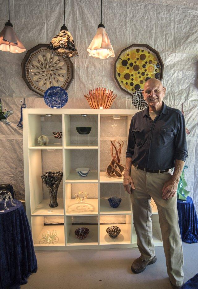 John Hansen of Long John Silver's Fused Glass Studio