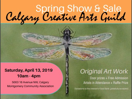 Calgary Creative Arts Guild Spring show and Sale, 2019