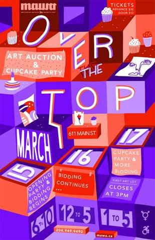 "MAWA, ""Over the Top Art Auction and Cupcake Party,"" 2019"