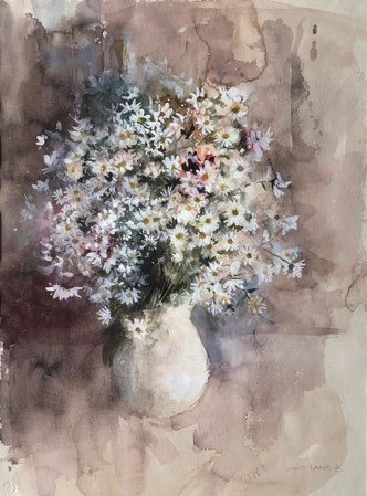 "Molly Lamb Bobak, ""Vase of Flowers,"" nd"