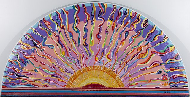 "Alex Janvier, ""Sunset"""