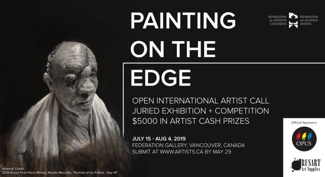 """Federation of Canadian Artists, """"Painting On The Edge,"""" 2019"""