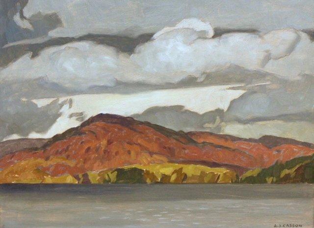 "A. J. Casson, ""October - Penn Lake,"" 1972"