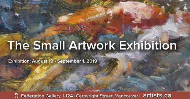 """Federation of Canadian Artists, """"The Small Artwork Exhibition,"""" 2019"""