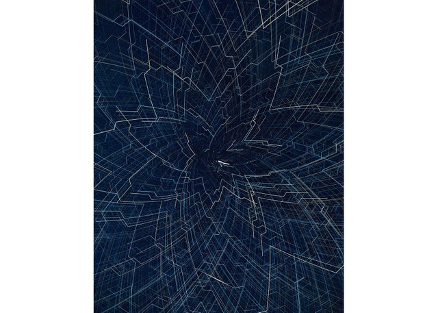 "James Nizam, ""Drawing with Starlight (Crown),"" 2019"