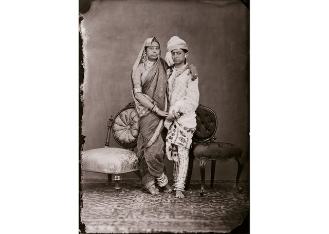 """Maharaja Sawai Ram Singh II, """"Unidentified women of the zenana,"""" circa 1870"""