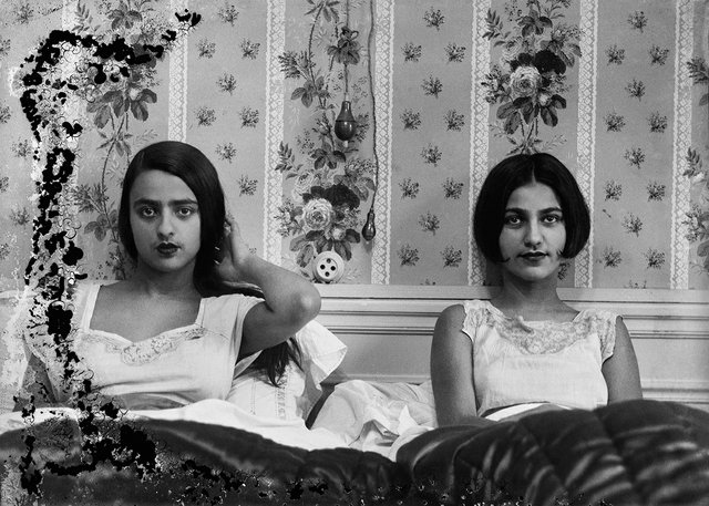 "Umrao Singh Sher-Gil, ""Sisters in bed,"" circa 1932"