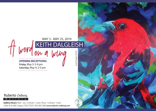 """Keith Dalgleish, """"A Word On A Wing,"""" 2019"""