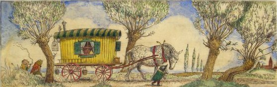 """Gypsy Caravan for Wind in the Willows"""
