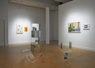 """Always seeing something, never seeing nothing,"" 2019,installation view at Platform Centre, Winnipeg."