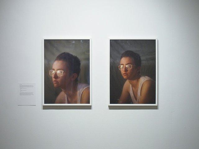 "Michelle Panting, ""Petroleum Jelly + Plastic Wrap Self Portrait #1 and #2,"" 2018"