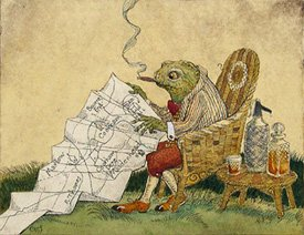 """Toad Reading a Map for Wind in the Willows"""