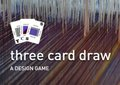 "Silk Weaving Studio, ""three card draw,"" 2019"