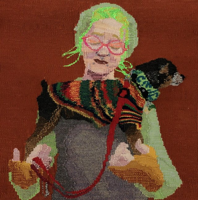 """Adele Schatschneider, """"Our Lady of Dog Sweaters,"""" 2018"""