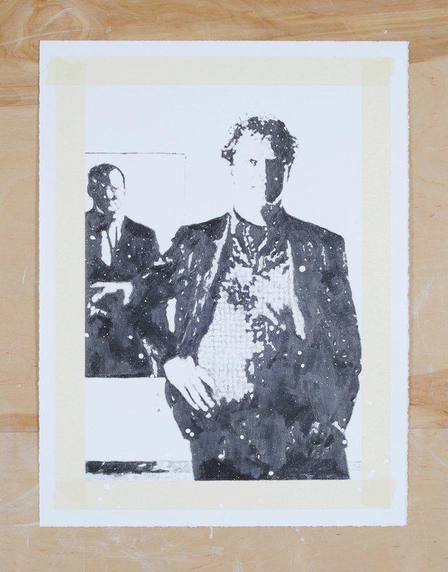 """Martin Bennett, """"Standard Drawing/Chris/Canadian Art/Fall/1986(John Dean),"""" 2019"""