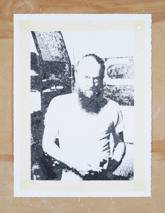 """Martin Bennett, """"Standard Drawing/John/Canadian Art/Fall/1986(Doug Curran),"""" 2019"""