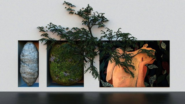 """Brad Necyk """"And all things of the forest Otherwise,"""" 2019"""