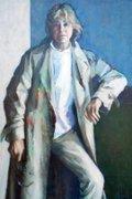 """Myfanwy Pavelic, """"Raincoat (Self-Portrait),"""" 1987"""