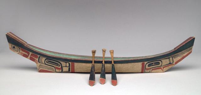 "Haida, ""Wooden Model Canoe,"" circa 1880"