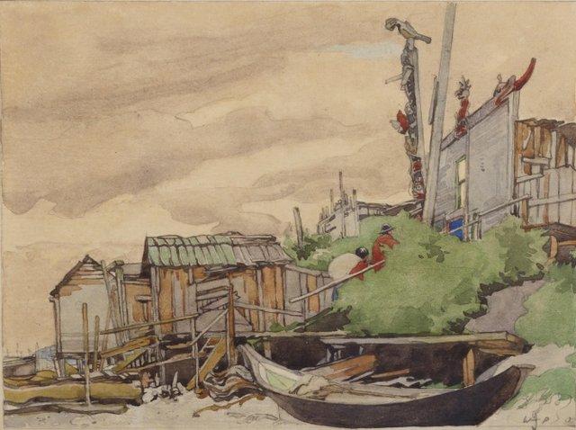 "Walter Joseph Phillips, ""Mamalilicoola, British Columbia,"" 1928"