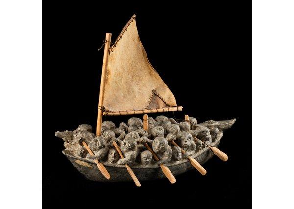 """Joe Talirunili, """"Migration Boat,"""" early-mid 1970s"""