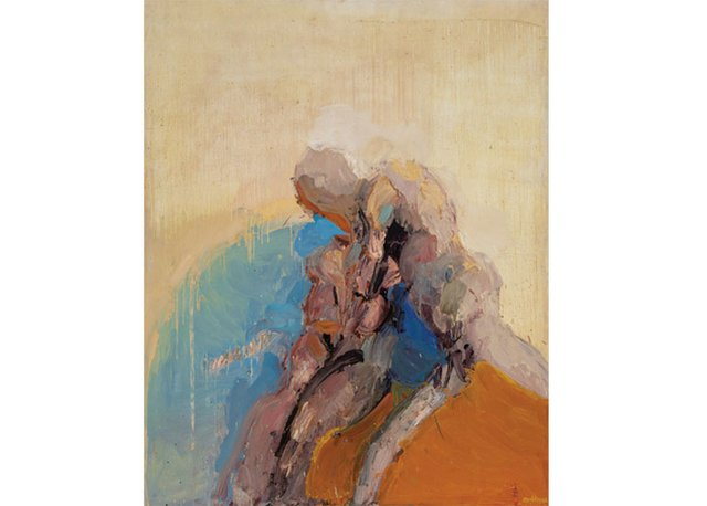 """John Graham Coughtry, """"Two Figures,"""" 1962"""