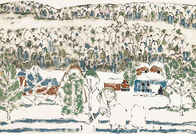 "David Brown Milne, ""Soft Hills (Misty Hill) (Boston Corners, N.Y.),"" 1917"