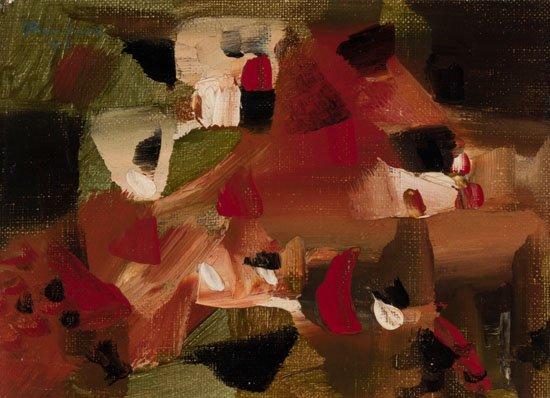 """Paul-Emile Borduas, """"Tom-pouce et les chimères,"""" 1947"""