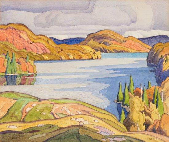 "Alfred Joseph Casson, ""Soyers Lake, Haliburton,"" 1929"