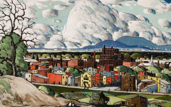 "Marc-Aurèle Fortin, ""Paysage à Hochelaga,"" circa 1930"