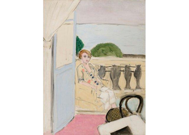 """Henri Matisse, """"Femme assise sur un balcon,"""" 1919"""