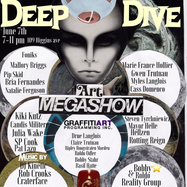 "Graffitti Gallery, ""Deep Dive Art MegaShow,"" 2019"