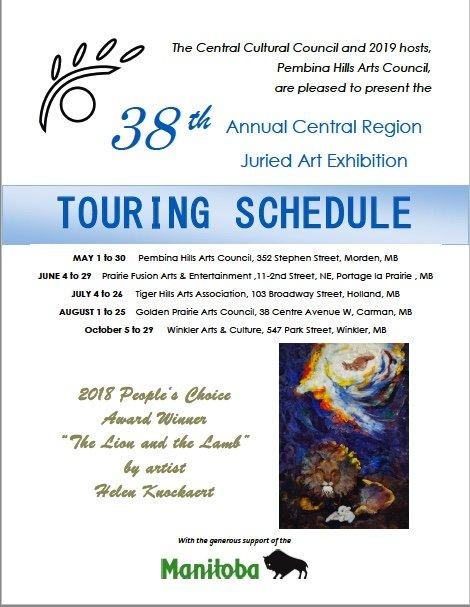 38th Annual Central Region Juried Art Exhibition, 2019