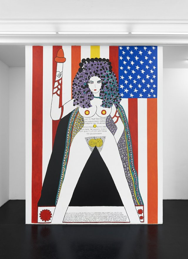 """Dorothy Iannone, """"The Statue of Liberty,"""" 2019"""