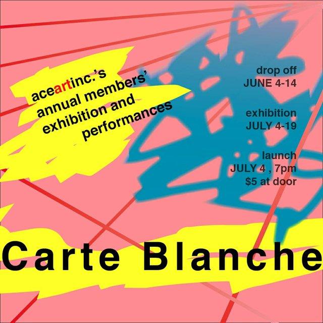 "aceartinc. ""Carte Blanche   Annual Members' Exhibition,"" 2019"