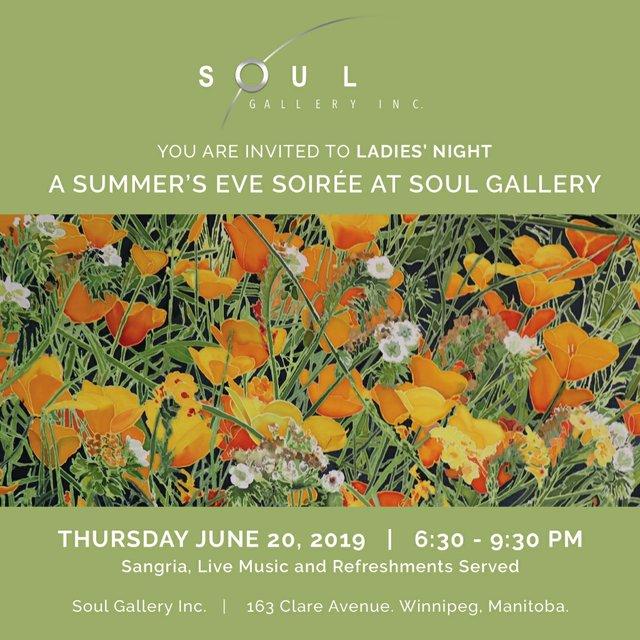 """Soul Gallery, """"Ladies Night, Summer's Eve Soiree,"""" 2019"""