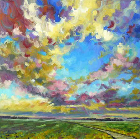 "Jana Milne, ""Cloudy Skies,"" nd"