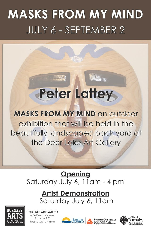 """Peter Lattey, """"Masks from my Mind,"""" 2019"""