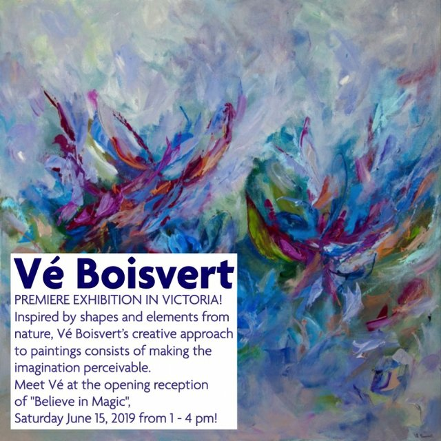 "Vé Boisvert, ""Believe in Magic,"" 2019"