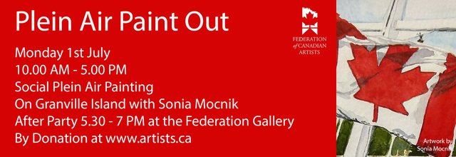 """Sonia Mocnik, """"Canada Day Paint Out,"""" 2019"""